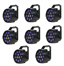 Eliminator Mini Par UVW LED 8pc Pack