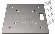 Global Truss Base Plate 20x20A (F24 Conical Couplers)