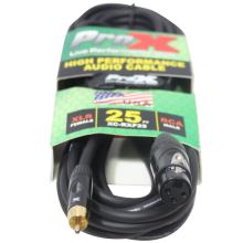 ProX XC-RXF25 (25ft RCA to XLR3-F Cable)