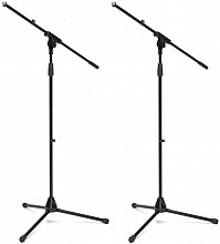 Samson MS45 Pair - 2x Boom Mic Stands